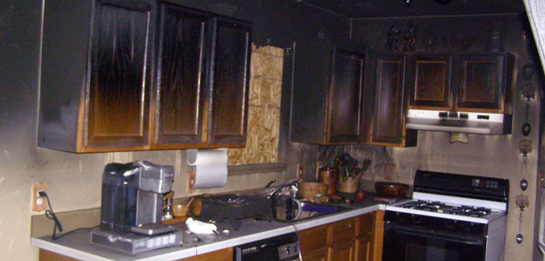 kitchen fire aftermath image